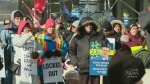 Unifor workers rally downtown