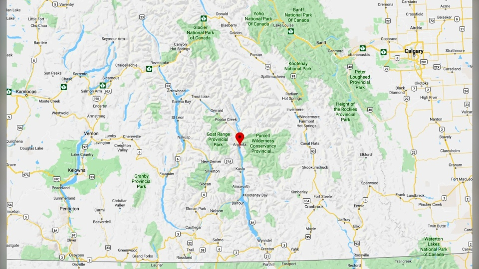 Argenta is about 40 kilometres north of Kalso, in southeastern B.C. (Google Maps)