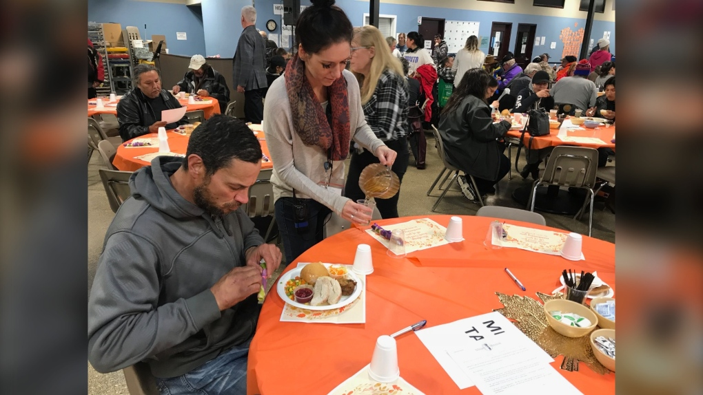 Siloam Mission's Thanksgiving meal.