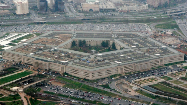 This March 27, 2008, file photo, shows the Pentagon in Washington. The Pentagon says the U.S. will send several dozen fighter jets along with other aircraft and additional air defenses to Saudi Arabia to help protect the kingdom from Iranian attacks. (AP Photo/Charles Dharapak, File)