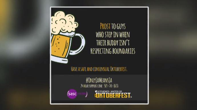 Kitchener-Waterloo Oktoberfest's new campaign poster.