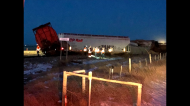 A 26-car train carrying grain derailed Thursday night in southern Alberta between Cranford and Barnwell