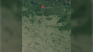 Timber Bay School in northern Saskatchewan is shown in relation to the city of Regina in this satellite image (Google Maps)