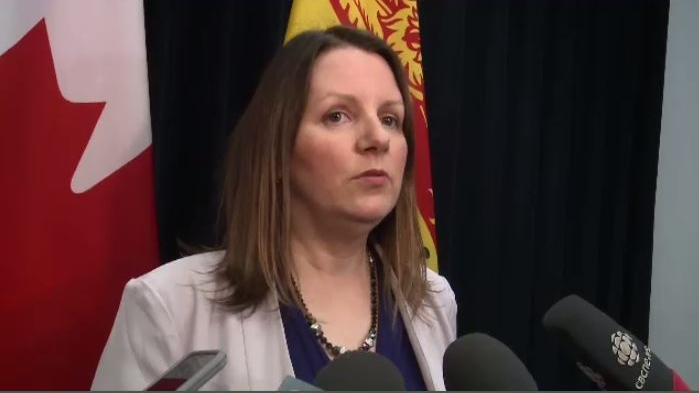 """""""We have informed physicians to be on the lookout for vaping related illnesses,"""" said Dr. Jennifer Russell, New Brunswick's chief medical officer of health."""