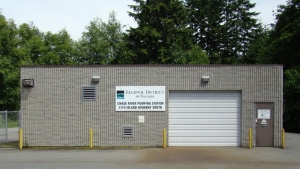 The Chase River Pump Station is seen in this photo from the Regional District of Nanaimo.