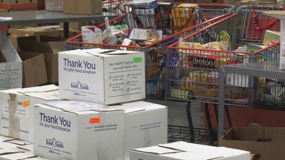 The Greater Vancouver Food Bank says it has seen a 24 per cent increase in usage over the past year.