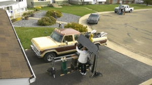 Vegreville movie shoot, film