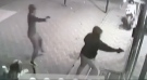 Police are looking for three gunmen who shot up a cafe in St. Leonard Friday, Oct. 11.