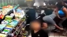 Cough starts a fight at a U.S. gas station
