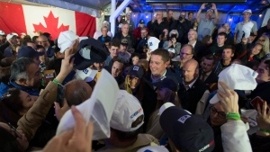 Conservative leader Andrew Scheer attends a rally during a campaign stop in Langley, B.C. Friday, October 11, 2019. THE CANADIAN PRESS/Jonathan Hayward