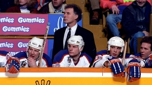 Former Edmonton Oilers coach and Stanley Cup champion Ted Green is seen in this undated file photo. (Edmonton Oilers / Twitter)