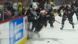 The Moose Jaw Warriors had their five game winning streak broke, losing to the Vancouver Giants 4-1. (Marc Smith/CTV News)