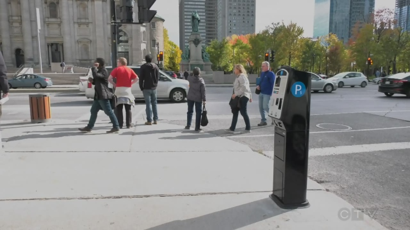 Montreal parking meters