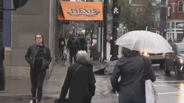 A wet and windy start to the long weekend for parts of the Maritimes as Subtropical Storm Melissa passed by the Atlantic coast Friday night into Saturday morning.