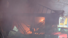 Crews responding to a garage explosion in Regina that left one man dead.