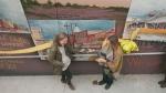 Ribbon cutting for new mural in Sudbury