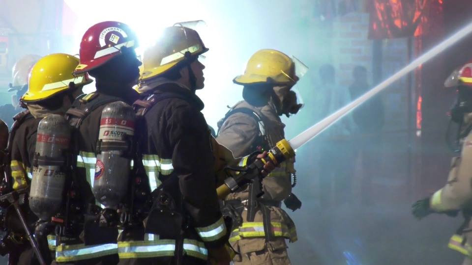 Fire officials are still working to determine the cause of a fire in East Vancouver Friday night. (CTV)