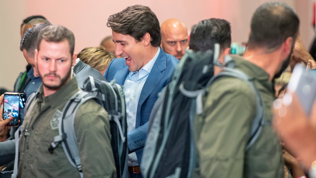 Trudeau dons protective vest as security concern delays Mississauga rally