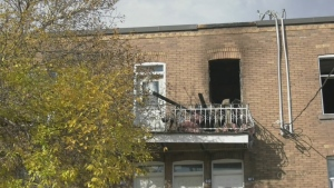 The SPVM arson squad was called to a fire in Verdun that damaged six units and was deemed suspicious.