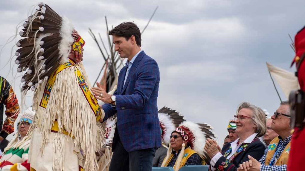 Justin Trudeau and Perry Bellegrade
