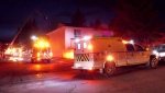 The Calgary Fire Department was called to a housing complex on Radcliffe Crescent for reports of a fire on Saturday evening.