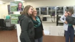 Federal Green party leader Elizabeth May wrapped up a Maritime tour with a visit to Glace Bay.