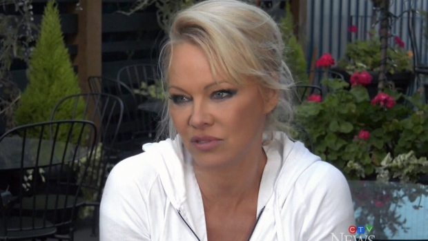 Pamela Anderson campaigns with island Green Party