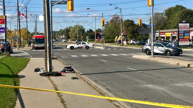 Police seek three people in alleged hit-and-run that hurt toddler, two others in Toronto