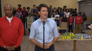 Liberal Leader Justin Trudeau speaks in Toronto