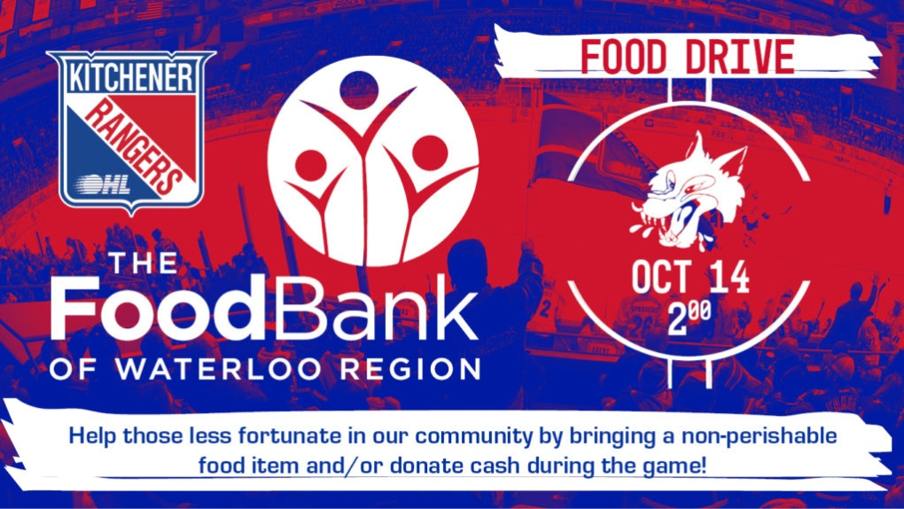 Kitchener Rangers hosting annual food drive on Thanksgiving Monday