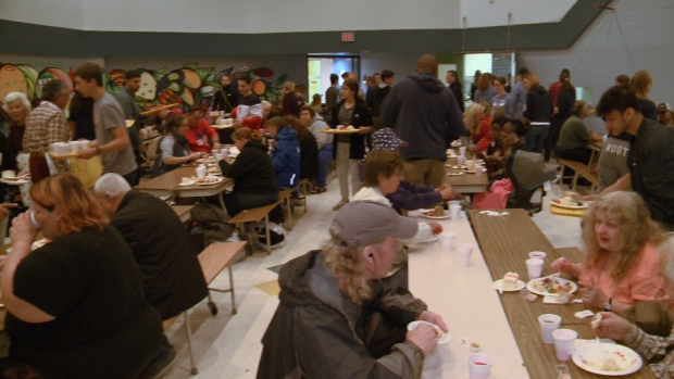 Hundreds feasted at Sir Guy Carleton S.S. for 28th annual Thanksgiving meal October 13, 2019.