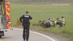 A woman is in hospital with serious injuries after a crash in Wilmot, N.S. on Saturday afternoon.