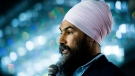NDP leader Jagmeet Singh speaks at a rally in Surrey, B.C., on Sunday, October 13, 2019. THE CANADIAN PRESS/Nathan Denette