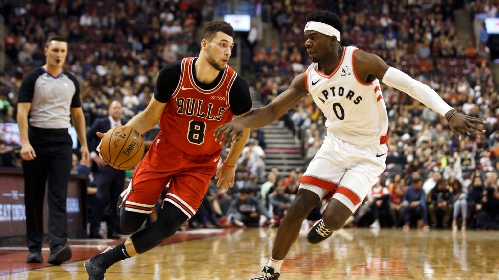 Zach LaVine leads Bulls past Raptors 105-91 in pre-season game in Toronto