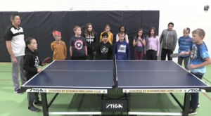 A Timmins teacher is using table tennis to teach his students