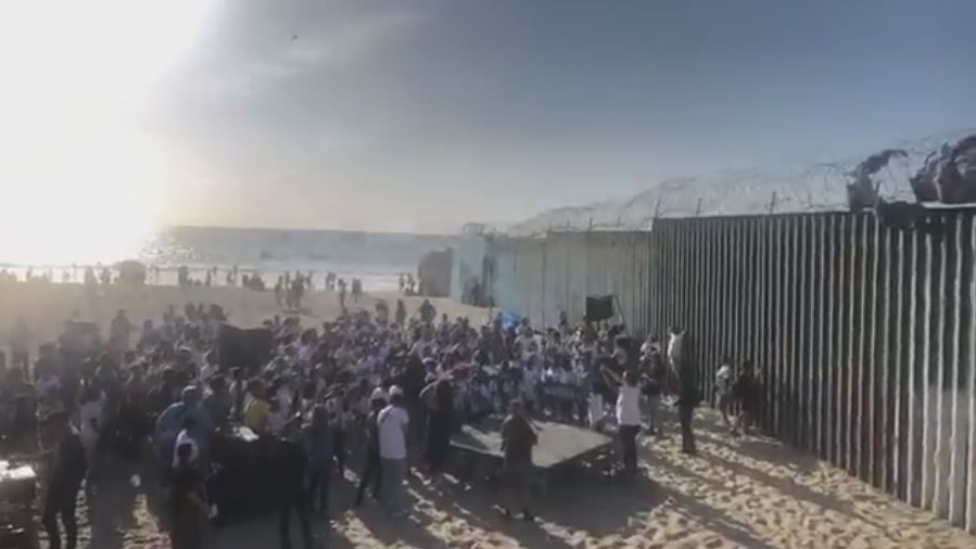 A choir sings Beatles songs at the Mexican border town of Tijuana with Choir! Choir! Choir! on Oct. 13, 2019. (Facebook choirx3)