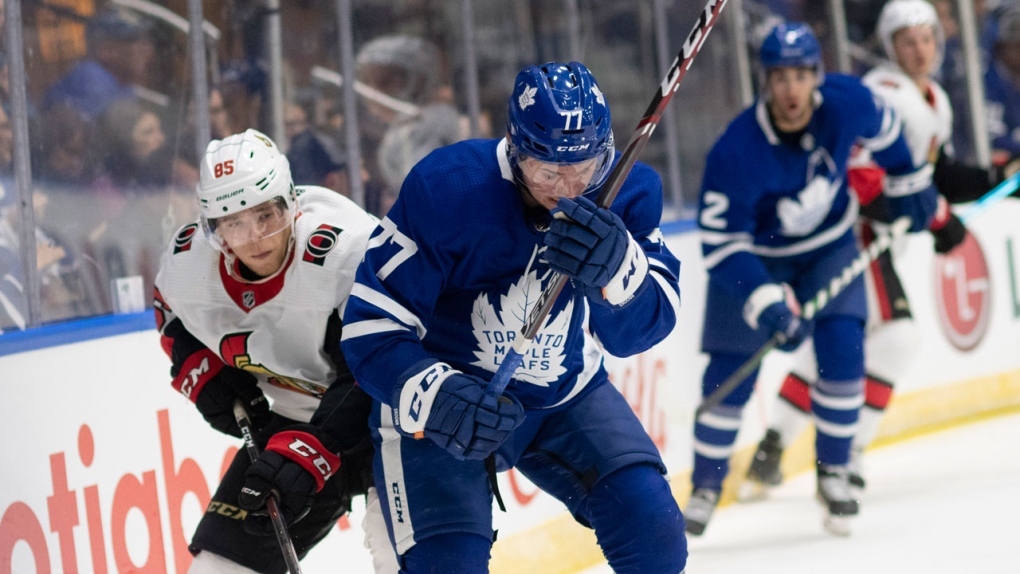 Maple Leafs recall Kevin Gravel from AHL, loan Sandin to Marlies