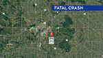 Scene of a fatal collision Sunday night