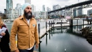 NDP leader Jagmeet Singh leaves the boardwalk after speaking to the media during a campaign stop at Granville Island in Vancouver, B.C., on Oct.14, 2019. THE CANADIAN PRESS/Nathan Denette