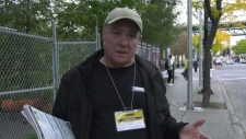 Robert Brunet was homeless for a time and now works with Elections Canada. He told CTV News Montreal that voting is the best tool to help homeless people push for more spending on social housing and other programs.(CTV)