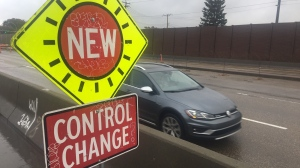 Crews began preparing on Monday to remove traffic signals on Yellowhead Trail at 89 Street.