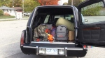 Woman using hearse for donation drive