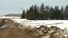 Snow storm pummels Portage la Prairie