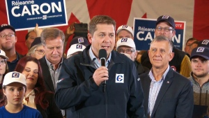 Andrew Scheer delivers remarks in Winnipeg