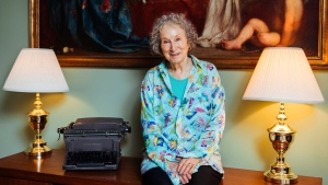 Author Margaret Atwood posing for a portrait in Toronto, Aug. 21, 2019. THE CANADIAN PRESS/AP-Invision, Arthur Mola