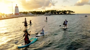 witches paddleboarding