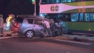 A teen has been seriously injured after a collision involving a GO bus and large truck in North York. (CTV News Toronto)