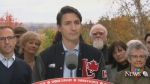 Liberal Leader Justin Trudeau makes a campaign stop in Fredericton on Oct. 15, 2019.