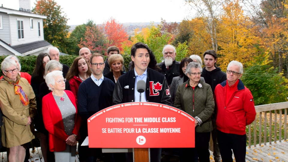 Liberal leader Justin Trudeau makes a campaign stop in Fredericton, N.B., on Tuesday Oct. 15, 2019. THE CANADIAN PRESS/Sean Kilpatrick