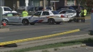 Three people were injured in a hit and run in Scarborough on Sunday. (CTV News Toronto)